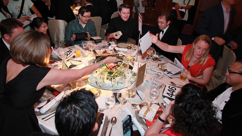 Freshfield's happy table at our Hong Kong Gala.