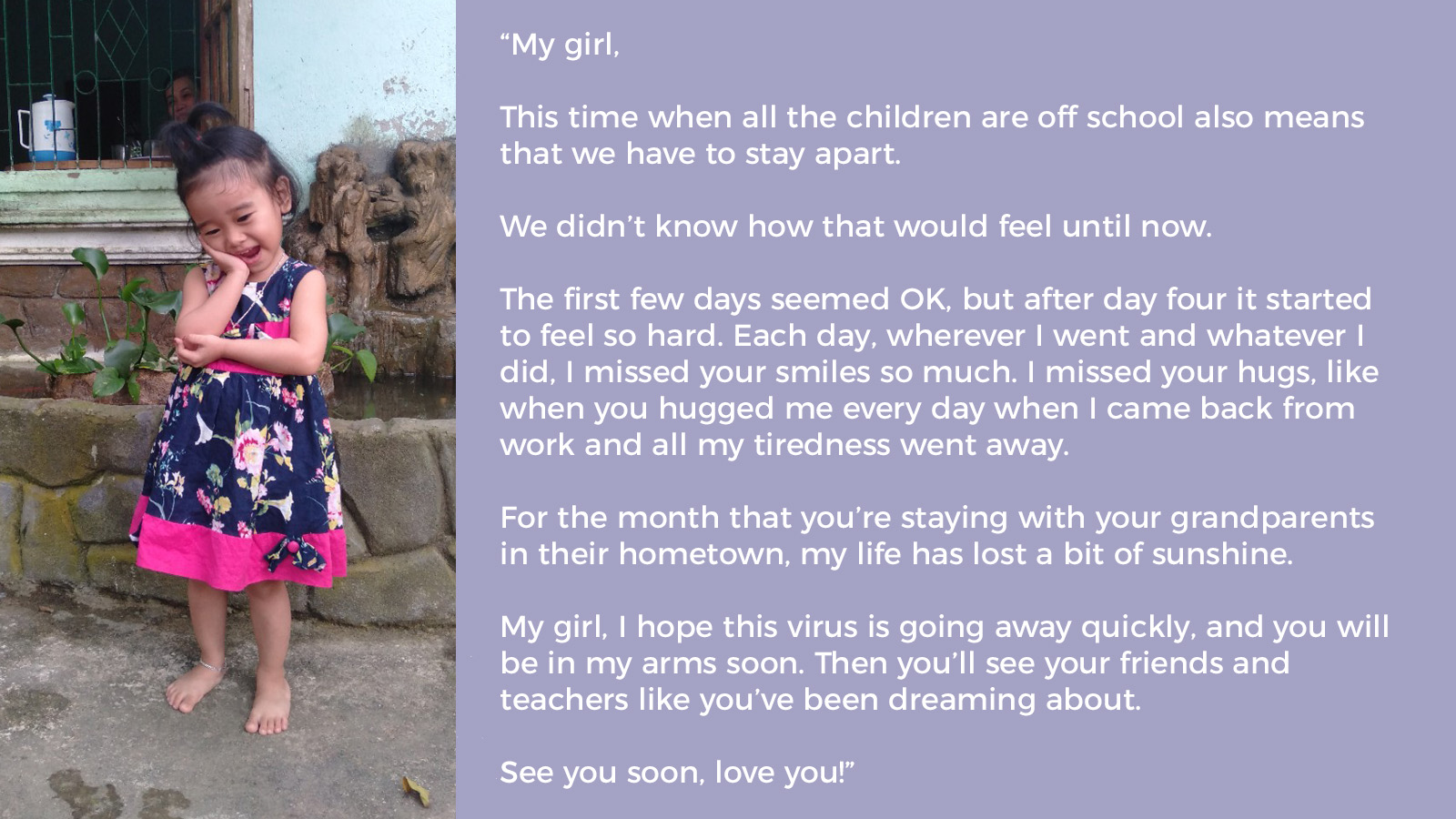 Covid 19 The Poignant Message From Mom To Daughter As Schools Stay Closed In Vietnam Onesky